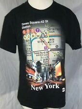 NYC TIMES SQUARE STATION-42ND ST SUBWAY MAP T SHIRT LARGE NEW YORK CITY NEW