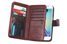 LUXURY LEATHER DETACHABLE WALLET FLIP CASE FOR SAMSUNG GALAXY S6 EDGE & LANYARD