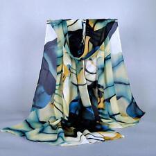 Women Fashion Pretty Long Soft Chiffon Scarf Wrap Shawl Stole Scarves