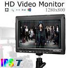 """Feelworld FW759 7"""" Slim IPS 1280x800 Field Monitor HDMI For BMPCC BMCC Camera"""