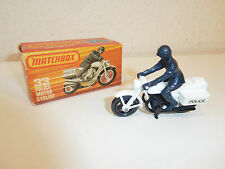 Matchbox 75 series 33 E police motorcycle