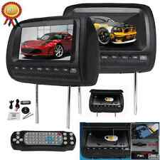 "Digital 2x Universal 9""Car Headrest Monitor Lens DVD MP4 Player SD USB 3Colors"