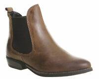 Womens Office Dallas 2 Chelsea Boots BROWN LEATHER Boots