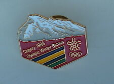 Calgary 1988 Olympic Winter Games Canadian Rockies Lapel Hat Pin