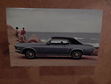 NOS MUSTANG ORIGINAL FORD ISSUE UNUSED PHOTO POSTCARD 1969 GRANDE 69 COUPE