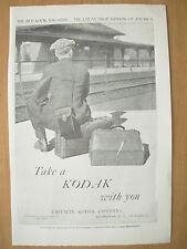 VINTAGE 1915 ADVERTISEMENT - EASTMAN KODAK COMPANY - TAKE A KODAK WITH YOU