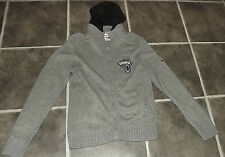 "MENS M GREY LEE COOPER KNITTED FRONT ZIP HOODIE CARDIGAN JACKET CHEST 38"" 97cm"