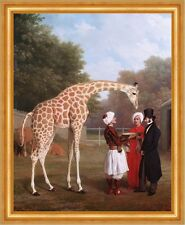 Nubian Giraffe Jacques-Laurent Agasse Tiere Gehege Wärter Adel Turban B A3 02342