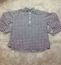 Coquelicot Girls Plaid Button Down Top Size 4 Pink & Black Long Sleeve
