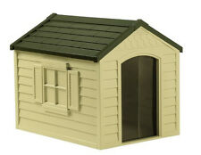 NEW Suncast DH250 Dog House Resin Construction with Door Pet All Weather Yard