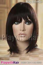 Silky Razored 100% Remy Human Hair Wig WOW Natural Black Brown Mix