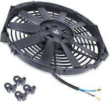 "UNIVERSAL 16"" STRAIGHT ELECTRIC ENGINE RACE RADIATOR INTERCOOLER COOLING FAN KIT"