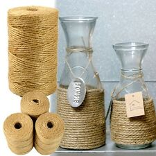 1 Roll Twisted Burlap Jute Twine Rope Natural Hemp Cord Sisal Ropes Cylindrical