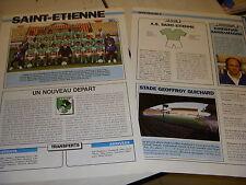 FOOTBALL COUPURE LIVRE PHOTO COULEUR 18x12 EQUIPE D1 SAINT ETIENNE 1991 1992