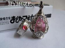 Pink Puella Magi Madoka Magica Madoka Kanam Soul Gem Cosplay Necklace and Ring