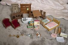 Lot of Calico Critters Sylvanian Families Furniture Doll House Miniature 1/16