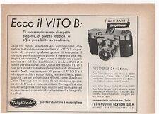 Pubblicità 1956 VOIGTLANDER VITO B FOTO PHOTO advert werbung publicitè reklame