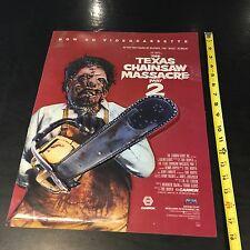 TEXAS CHAINSAW MASSACRE 2 LIGHT BOX PROMO POSTER DS Vintage Video Store Release
