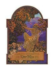 DJER KISS 1921 Vintage French Cosmetic Advertising CANVAS ART PRINT 24x31 in.