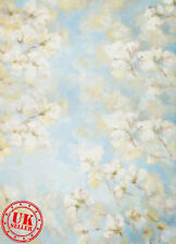 FLORAL BLUE BACKDROP WALLPAPER BACKGROUND VINYL PHOTO PROP 5X7FT 150x220CM