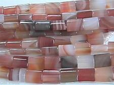 10mm x 12mm Natural Carnelian Puff Rectangle Beads (10) TEN BEADS NOT STRANDS