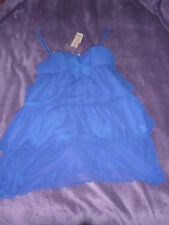 Nuisette robe bleu nuit à volant ''so me'' taille 34 ETAM