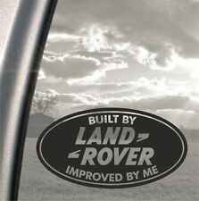 Built by Land Rover improoved by me funny bumper, car, window sticker