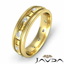 Magnificent Mens Diamond Eternity Wedding Band 14k Yellow Gold Solid Ring 0.25Ct