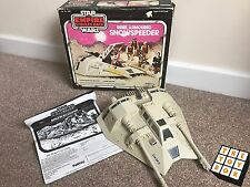 Vintage Star Wars ESB Palitoy Boxed Snowspeeder Pink Box *working* w/ Manual