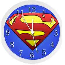 Glow In The Dark Wall Clock -  SUPERMAN (WHITE)