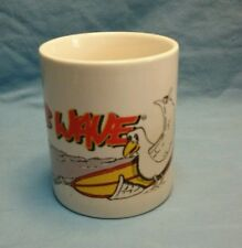 """Club Wave Coffee Cup """"Seagull and Surfboard"""""""