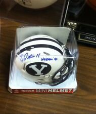Ty Detmer~Autographed BYU Cougars Riddell mini Helmet~COA Authentic