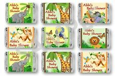 Baby Shower Mini Candy Bar Wrappers-Jungle Animals Birthday/Baby Shower Favors