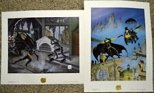 BATMAN RETURNS - DANGEROUS GAME CAT & BAT & PENGUINS REVENGE MATCHED SET LITHOS