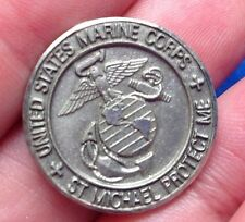 ARCHANGEL St. Michael US MARINE CORPS Saint Pocket Token Medal Protection Creed