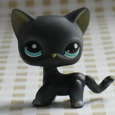 LPS PRESCHOOL LITTLEST PET SHOP LPS  Dark Gray CAT KITTY FIGURE 3""