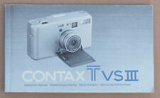 CONTAX TVSIII Instructions - Four Languages -