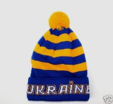 Ukraine Hat - Ukrainian Blue-Yellow Flag Color Tryzub Trident
