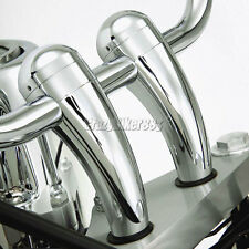 "Chrome 1"" Handlebar Risers For Yamaha V-Star XVS 650 1100 Custom Silverado"