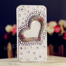 Bling crystal Gems Diamonds hard ultra thin back Shell Phone Case Cover Skin D