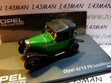 voiture 1/43 IXO eagle moss OPEL collection : 4/12 PS Laubfrosch