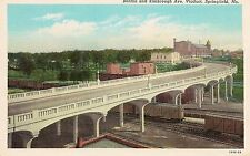 Benton and Kimbrough Avenue Viaduct Springfield MO Postcard