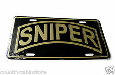 Special Forces Sniper Tag Military License Plate 6 x 12 inches Made in the USA