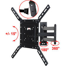 "Articulating TV Wall Mount 32 39 40 42 46 47 50 55"" LED LCD UHD Tilt Bracket CB6"