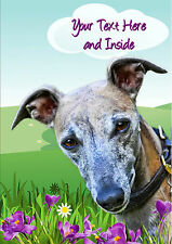 PERSONALISED WHIPPET GREYHOUND LURCHER DOG MOTHERS DAY BIRTHDAY CARD + Insert