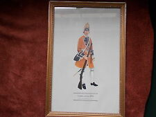 MILITARY FRAMED PRINT  BY P H SMITHERMAN (hugh evelyn print)(grenadier 2nd foot)
