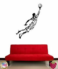 Wall Stickers Vinyl Decal Sport Basketball Jumping For Living Room (z1605)