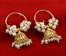 Traditional Indian Antic Gold Plated Jhumka Bridal Jhumki Earrings Set Jewelry