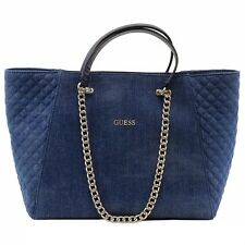 Guess Women's Nikki Denim Chain Tote Handbag