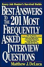 Best Answers to the 201 Most Frequently Asked Interview Questions,VERYGOOD Book